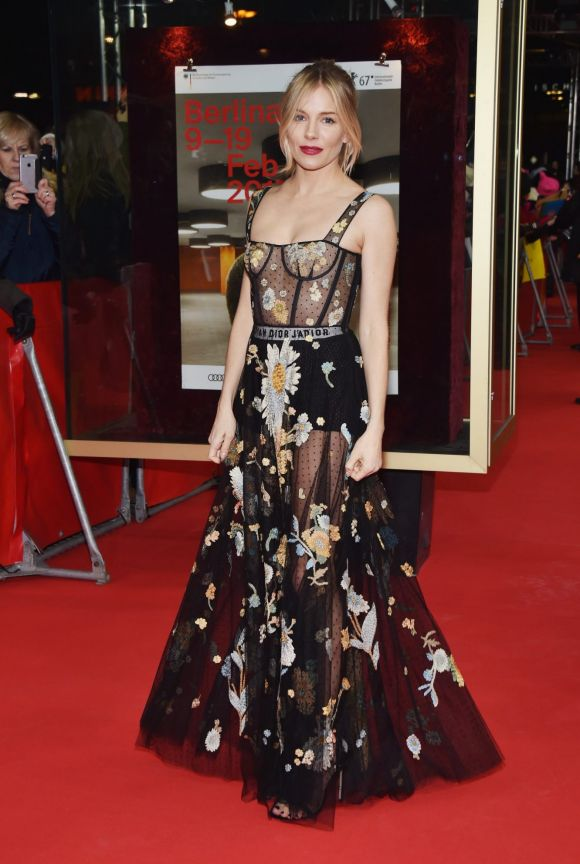 Sienna Miller wearing Dior attends the 'The Lost City of Z' premiere during the 67th Berlinale International Film ...