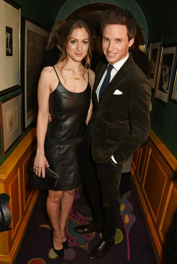 Hannah Bagshawe (L) and Eddie Redmayne attend a pre BAFTA party hosted by Charles Finch and Chanel at Annabel's on ...