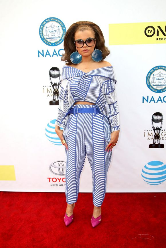 Andra Day attends the 48th NAACP Image Awards at Pasadena Civic Auditorium on February 11, 2017 in Pasadena, California.