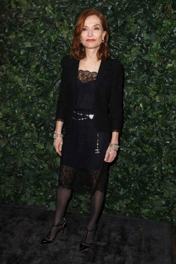 Isabelle Huppert attends a pre-BAFTA party hosted by Charles Finch and Chanel at Annabel's on February 11, 2017 in ...