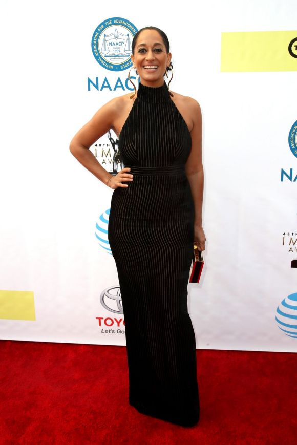 Tracee Ellis Ross attends the 48th NAACP Image Awards at Pasadena Civic Auditorium on February 11, 2017 in Pasadena, ...