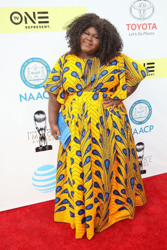 Gabourey Sidibe attends the 48th NAACP Image Awards at Pasadena Civic Auditorium on February 11, 2017 in Pasadena, ...