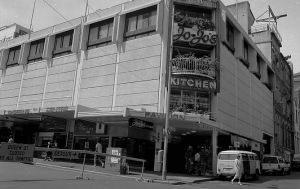 Jo-Jo's restaurant, prior to the Queen Street Mall being built.