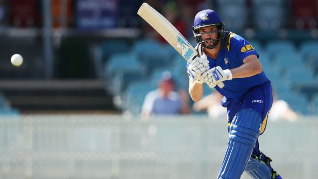 Jono Dean of ACT bats against PNG.