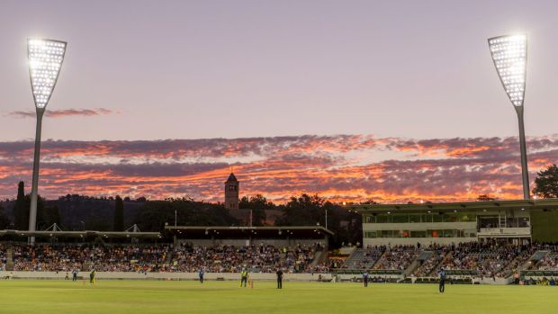 A view of Manuka Oval during the Prime Minister's XI clash with Sri Lanka.