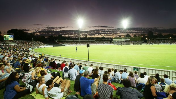 Manuka Oval turned on another beautiful night under lights.