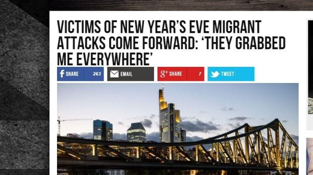 How the story was reported by Breitbart.