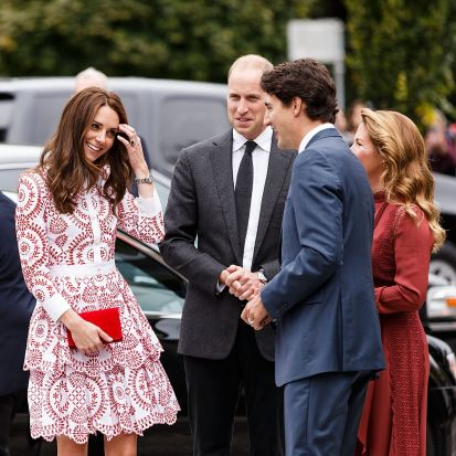 Catherine, Duchess of Cambridge and Prince William, Duke of Cambridge welcomed by Justin Trudeau to the Immigrant ...