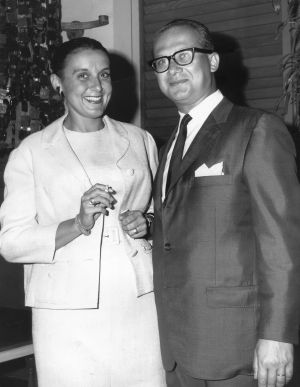 """Baum's French-born mother, Jacqueline, and Austrian-born father, Harry, in 1965. """"I had inherited my father's explosive ..."""