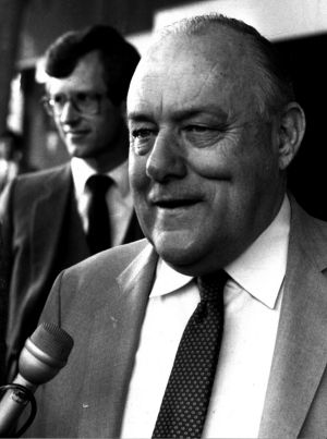 Sir Robert Muldoon, the raucous, protectionist former New Zealand leader.