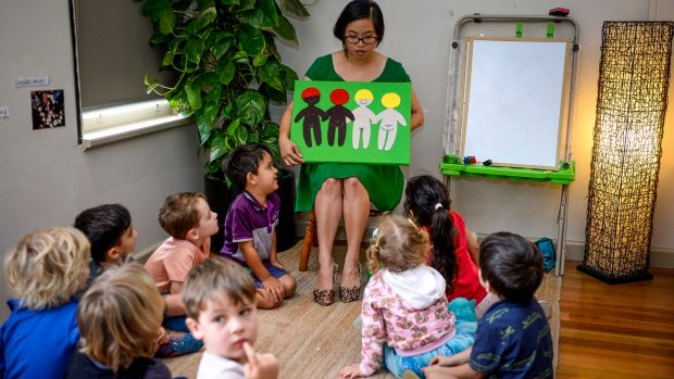 Whitney Yip at the Bridge Road Early Learning Centre.