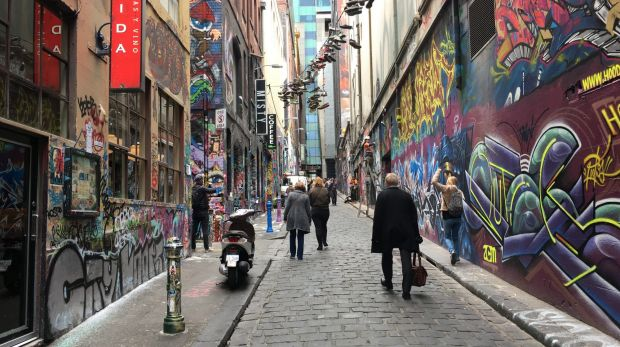 Melbourne's Hosier Lane has become a tourist attraction due to its street art. 'We have not taken that approach,' says ...