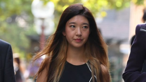Brenda Lin arrives at court during the trial.