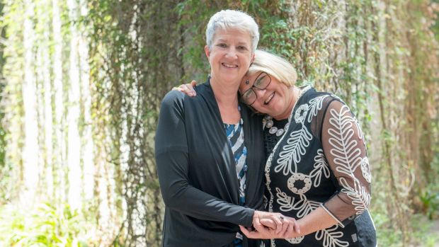 Caroline Marsh and Lynne O'Brien are elated their overseas marriage is now recognised in the ACT but are looking forward ...