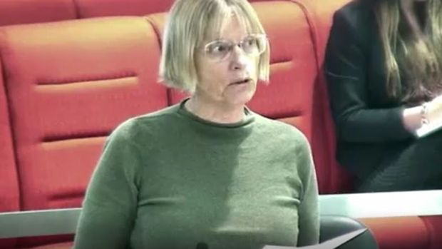 Caroline Le Couteur in the ACT parliament on Thursday, asking Andrew Barr why he hasn't taken stronger action against ...