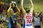 Carly Wilson during the Capitals v Adelaide lightning at the Southern Cross Stadium in Tuggeranong. Photo Jay Cronan