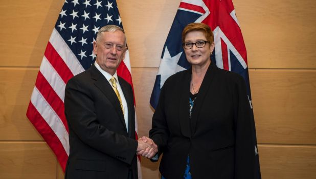 US secretary for defence James Mattis and Defence Minister Marise Payne.