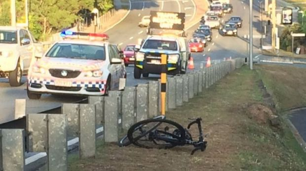 A cyclist has suffered life-threatening injuries after a collision with a car on the run into the CBD.
