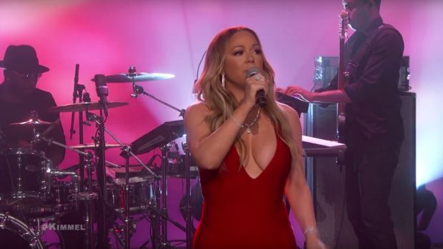 Mariah Carey performs on Jimmy Kimmel.