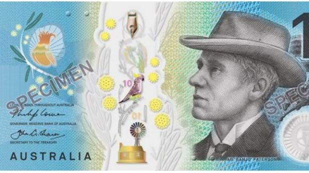 The new $10 note, starring Banjo Patterson
