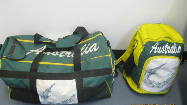 Australian Olympic and Commonwealth games uniforms were found in the stolen car.