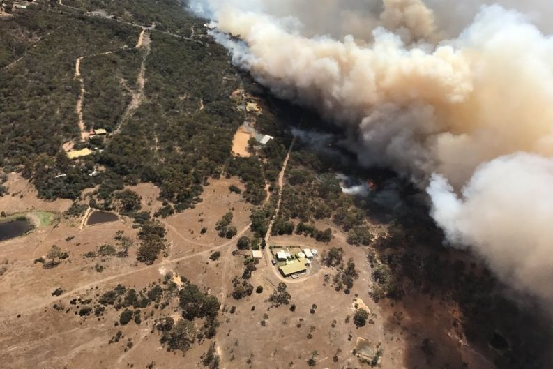 Image of the fire from a NSWRFS aircraft.