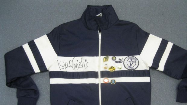 The items include a Victorian athletics jacket signed by British track star Linford Christie.