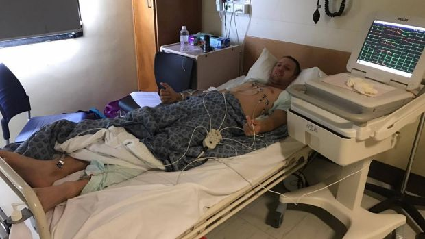 Aaron Smith, 30, was hospitalised for six days for salmonella poisoning and lost 11 kilograms.