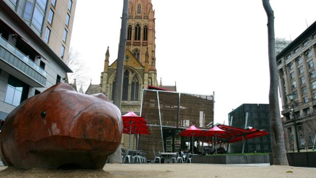 """Brunetti's cafe is to be bowled over and a new home will be found for the wooden """"Warin the Wombat"""" statue."""