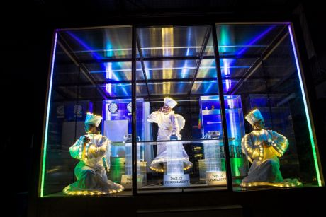 'Angels' will perform in a transparent cube at QV as part of Born In A Taxi's participatory projection performance ...