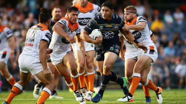 Running hard: Jason Taumalolo will be a key figure for the Cowboys this season.