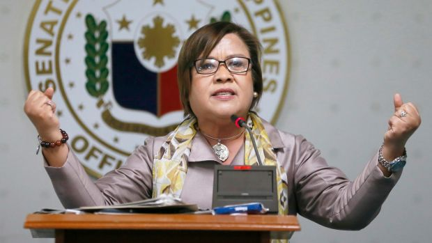 """This is the kind of vindictive politics that we only expect from this regime"": opposition senator Leila De Lima."