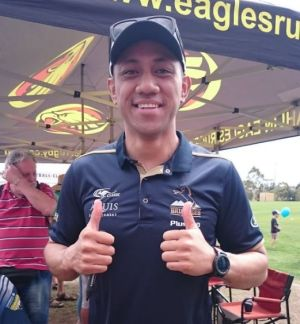 Leukaemia patient, Brumbies and Wallabies utility back Christian Lealiifano at ACT Brumbies Meet the Players in Canberra ...