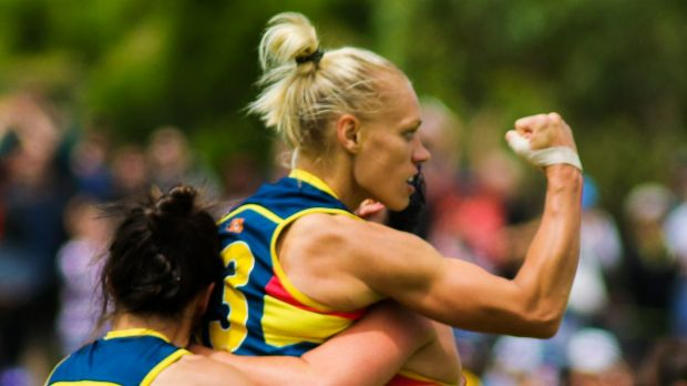 No gimmick: In their first season, AFLW stars such as Erin Phillips earned serious respect for women's football.