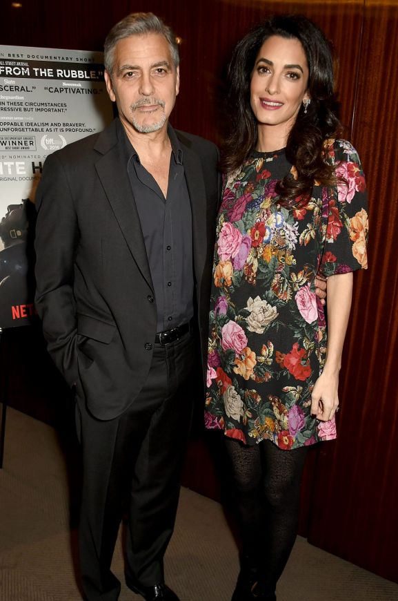 Twinning is winning in 2017 with 55-year-old actor George and 39-year-old human rights lawyer Amal Clooney expecting ...