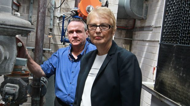 Michael Heaney and Barbara Richards, who live in a Sydney apartment block, which has had ongoing issues with estimated ...