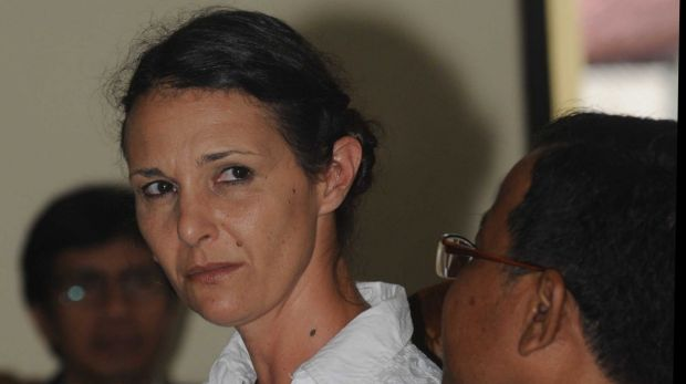 Sara Connor after hearing prosecutors request a sentence of eight years' jail for her at Denpasar District Court on Tuesday