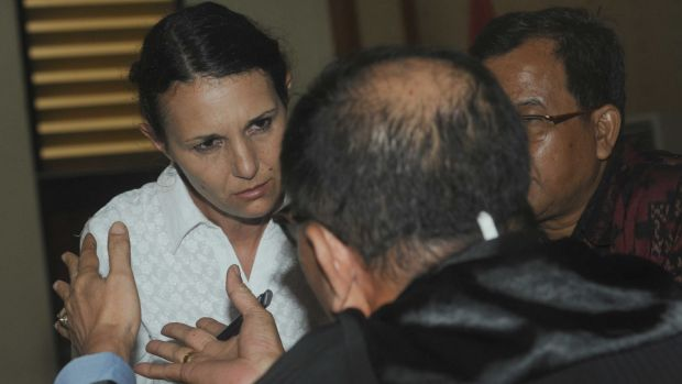 Sara Connor after hearing prosecutors request a sentence of eight years' jail for her at Denpasar District Court on Tuesday.