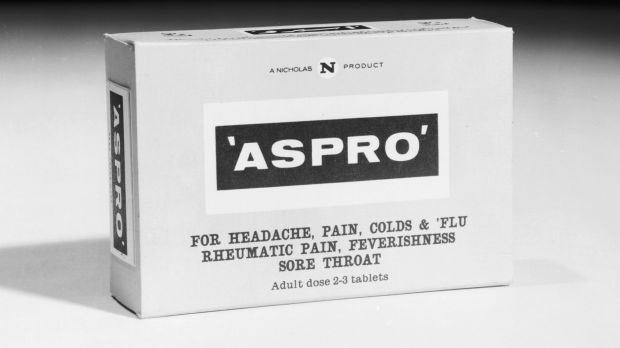 A packet of 'Aspro' painkillers in 1964, the Nicholas product became a household name.