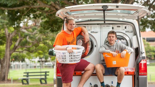 Lucas Patchett and Nicholas Marchesi's mobile laundry service attracted $1.47 million in donations and reported a profit ...