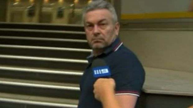 Borce Ristevski arriving at his lawyer Rob Stary's offices on Wednesday.
