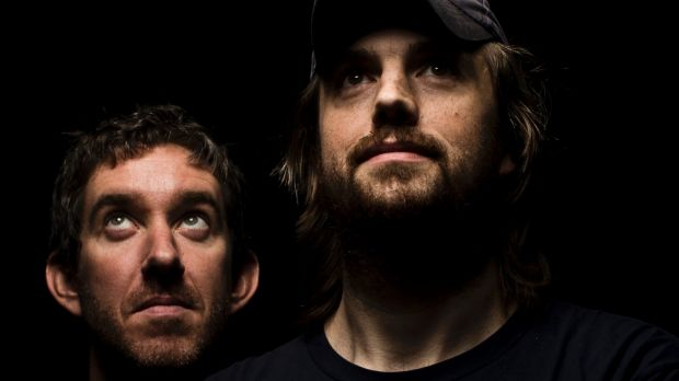 Atlassian's billionaire founders front Mike Cannon Brookes and Scott Farquhar.