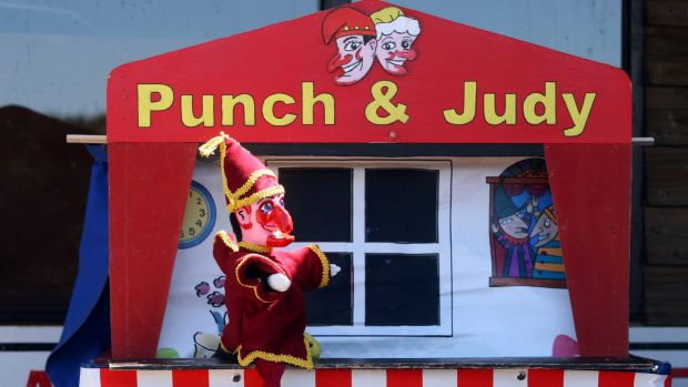 Punch and Judy came out to play.