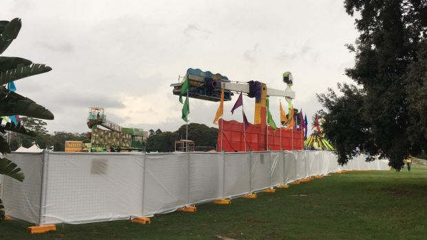 A section of Centennial Park was fenced off from the public for a private corporate event.