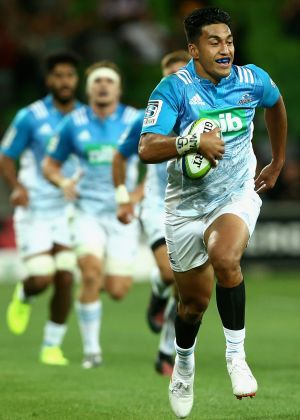 Rieko Ioane starred with three tries for the Blues.