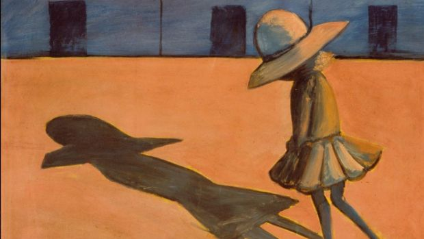 Charles Blackman, The Shadow (detail), 1953, tempera on cardboard 59 x 75cm, Heide Museum of Modern Art, Melbourne ...