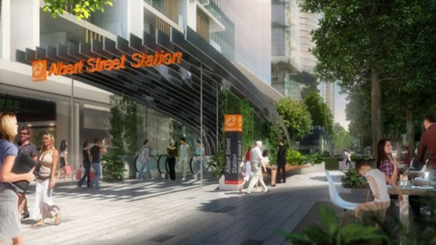 Cross River Rail's proposed Albert Street station.