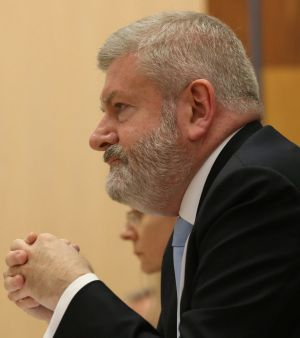 Communications Minister Mitch Fifield was grilled over the Foxtel funding announcement at Senate estimates earlier this year.