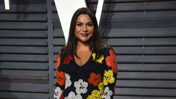 Mindy Kaling arrives at the Vanity Fair Oscar Party on Sunday, Feb. 26, 2017, in Beverly Hills, California.