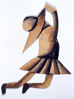 Charles Blackman, Schoolgirl maquette for Schoolgirl Ballet Project, 1955, brush and coloured inks on paper 27 x 18.5cm, ...